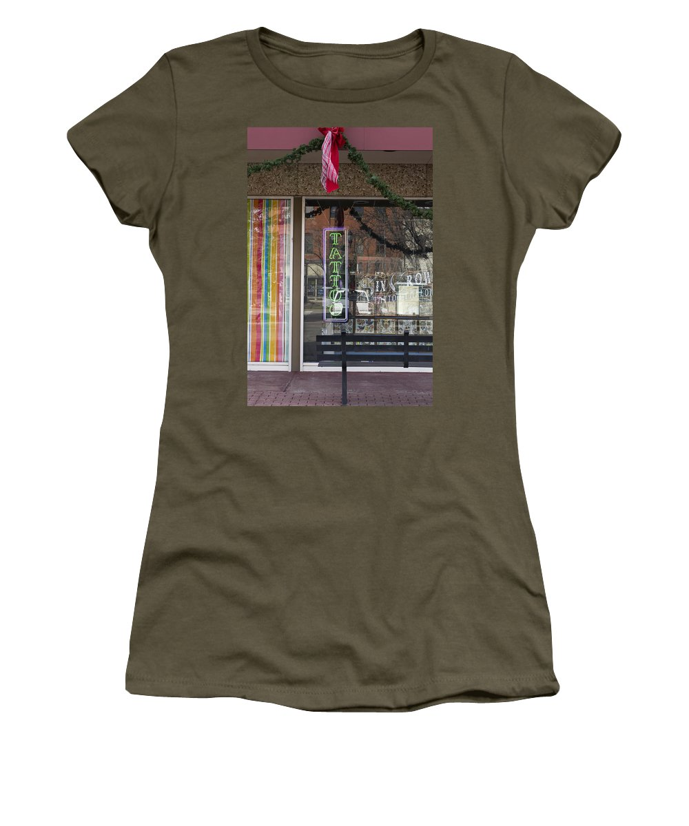 City Women's T-Shirt featuring the photograph If Your Into It... by Gary Benson