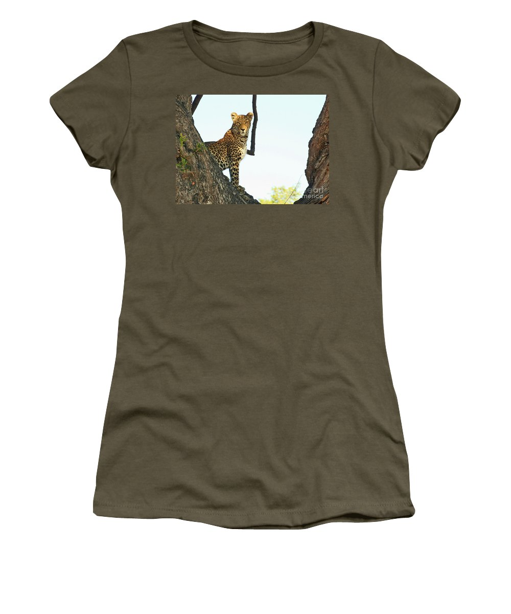 Africa Women's T-Shirt featuring the photograph I'm Looking At You by Richard Guanci
