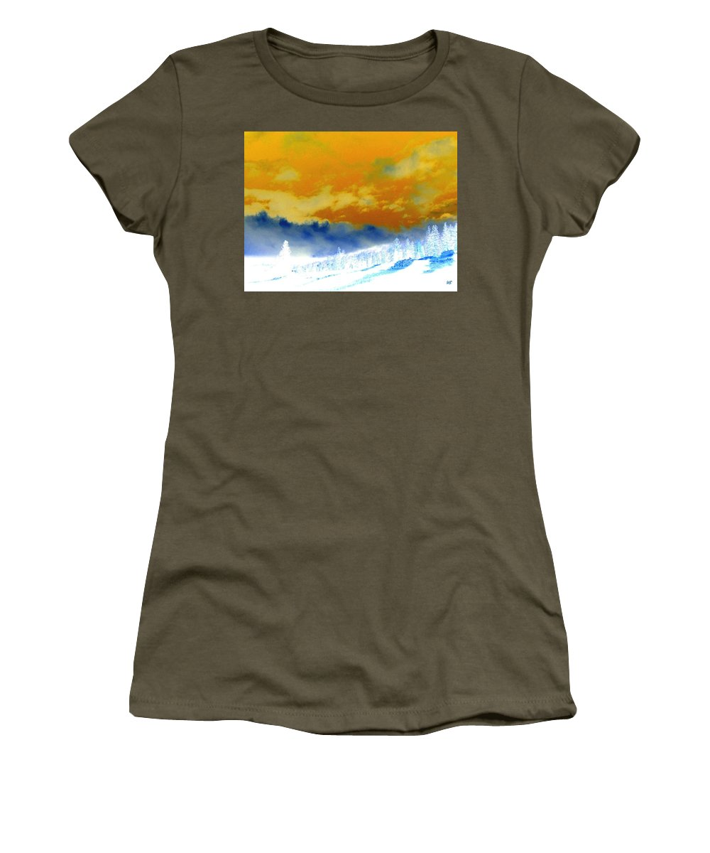 Impressions Women's T-Shirt featuring the digital art Impressions 2 by Will Borden