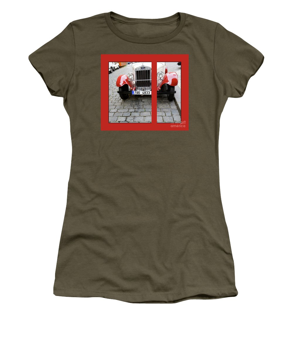 Auto Women's T-Shirt featuring the photograph In The Good Old Days by Madeline Ellis
