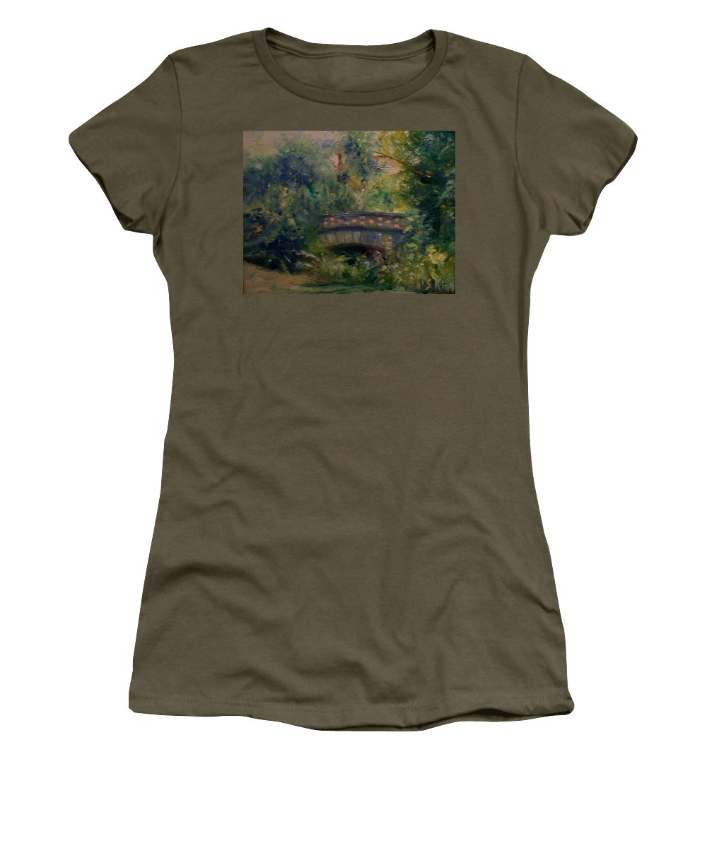 Landscape Women's T-Shirt (Athletic Fit) featuring the painting In The Park by Stephen King