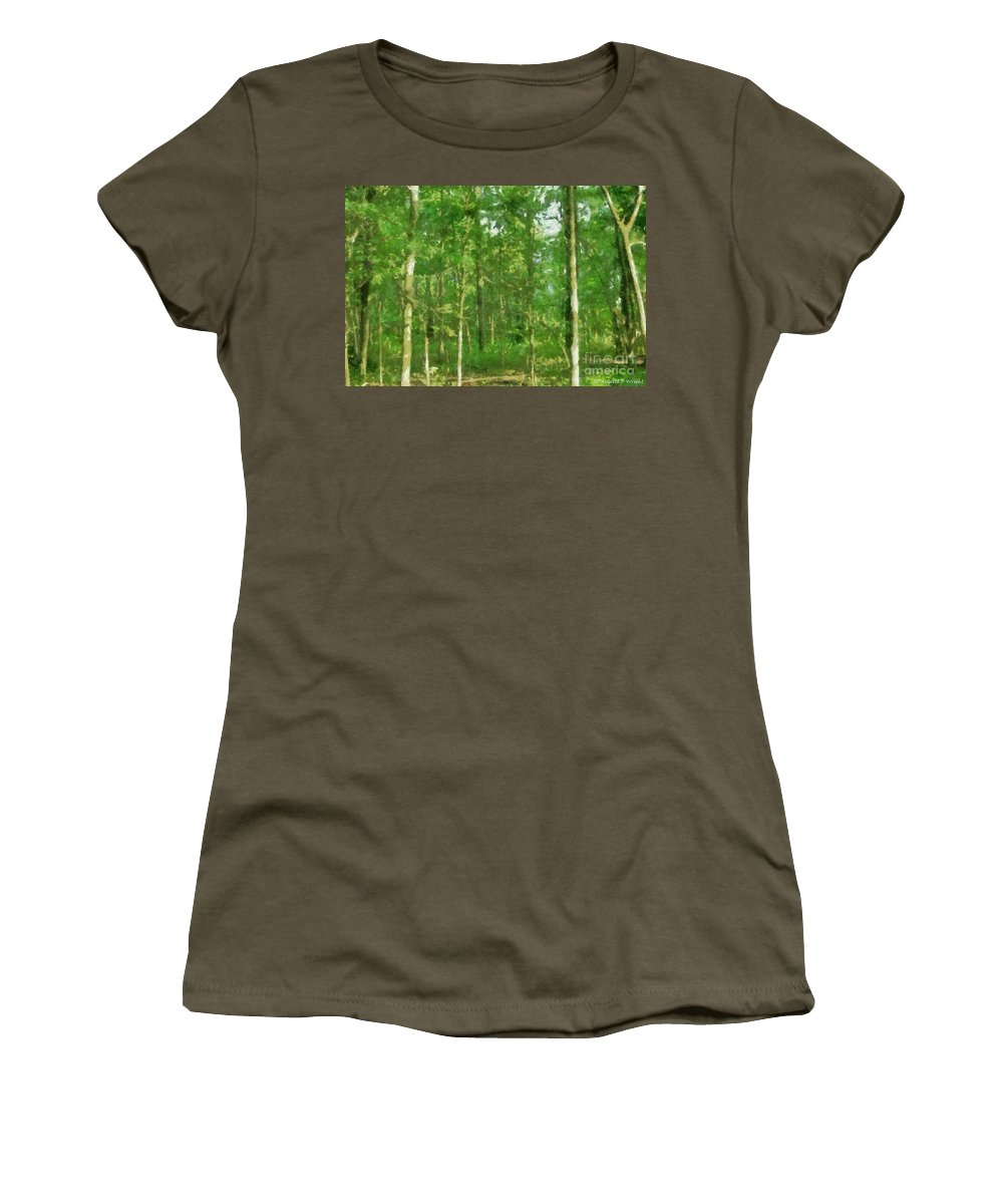 Photograph Women's T-Shirt featuring the painting In The Thick Of Things by Paulette B Wright