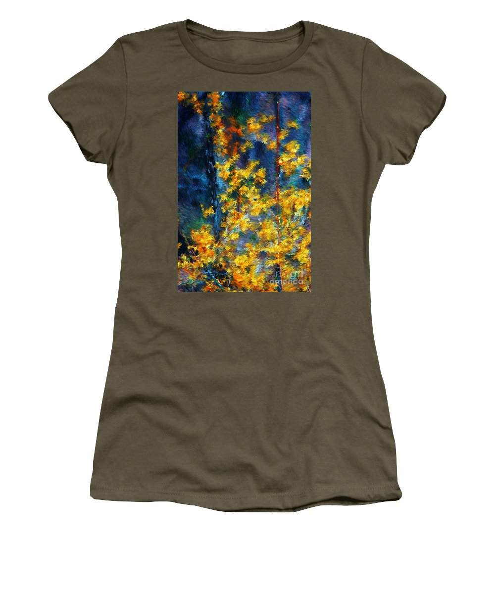 Nature Women's T-Shirt featuring the photograph In The Woods Again by David Lane