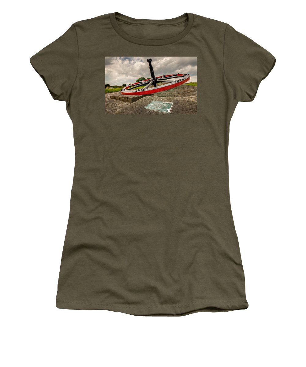 Industrial Women's T-Shirt featuring the photograph Industrial Wheel by Mike Walker