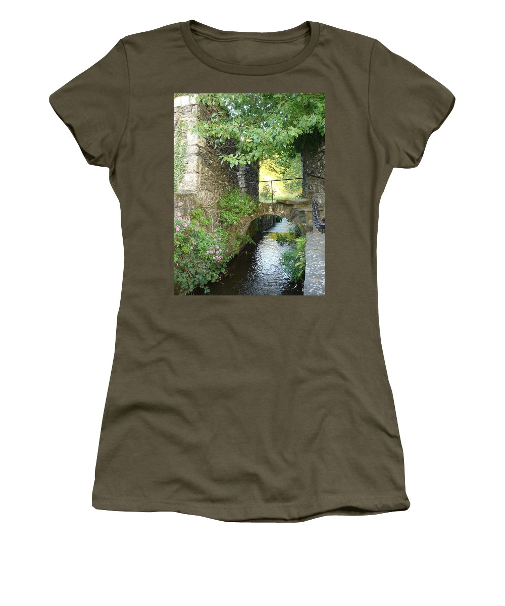 Inistioge Women's T-Shirt (Athletic Fit) featuring the photograph Inistioge by Kelly Mezzapelle