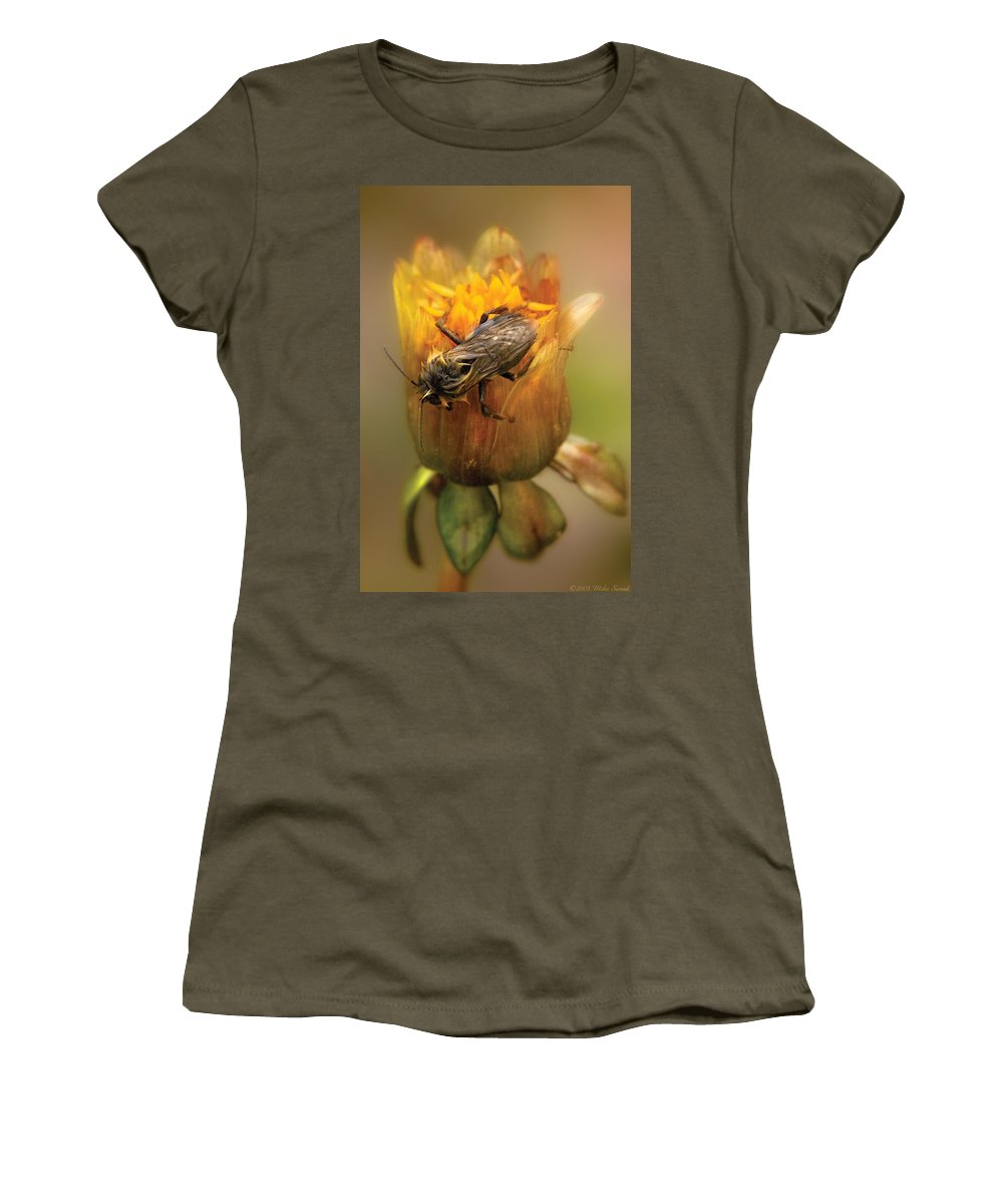 Savad Women's T-Shirt featuring the photograph Insect - Bee - Dare To Bee Different by Mike Savad