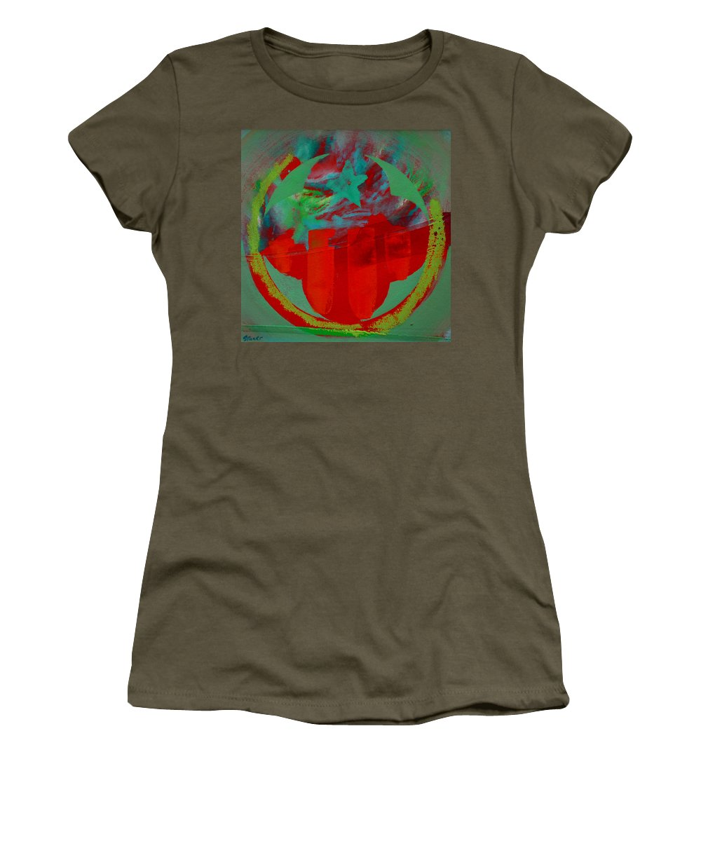 Usaaf Insignia Women's T-Shirt (Athletic Fit) featuring the painting Insignia by Charles Stuart