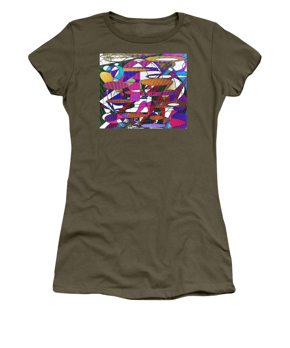 Abstract Women's T-Shirt (Athletic Fit) featuring the digital art Intergalatic by Ian MacDonald