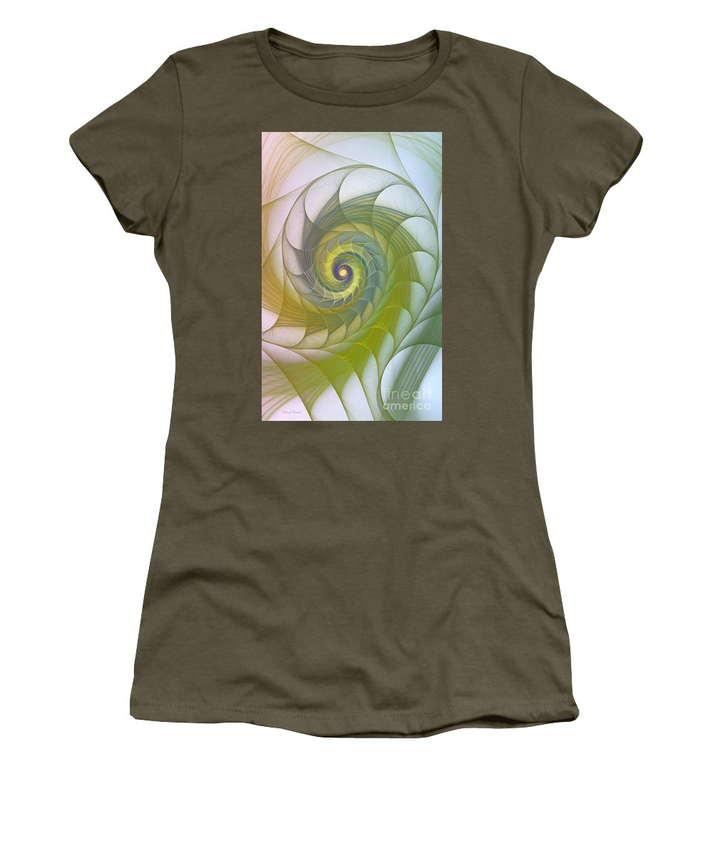 Fractal Women's T-Shirt featuring the photograph Into The Inner Kingdom by Deborah Benoit