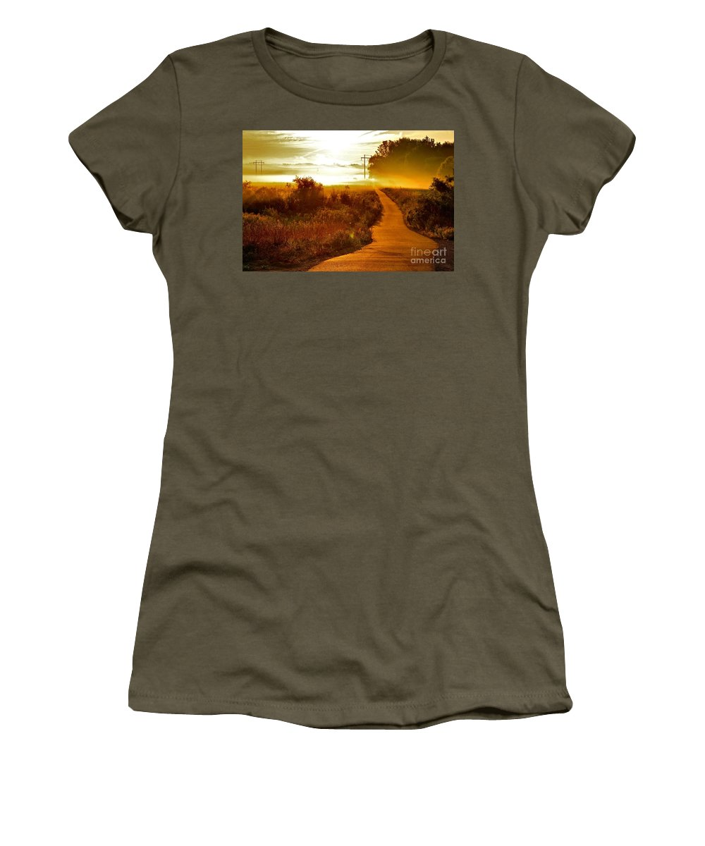 Landscape Women's T-Shirt (Athletic Fit) featuring the photograph Into The Unknown by Robert Pearson