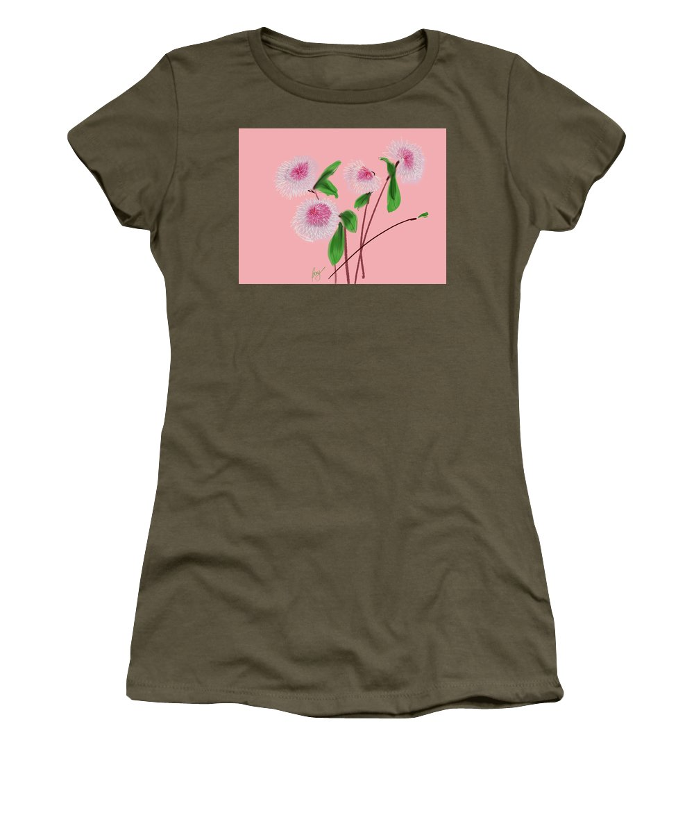 Floral Women's T-Shirt (Athletic Fit) featuring the digital art Dear Dahlia's by Bonny Butler