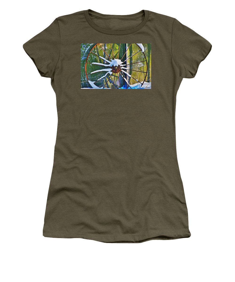 Iron Women's T-Shirt featuring the photograph Iron Wheel by Robert Pearson