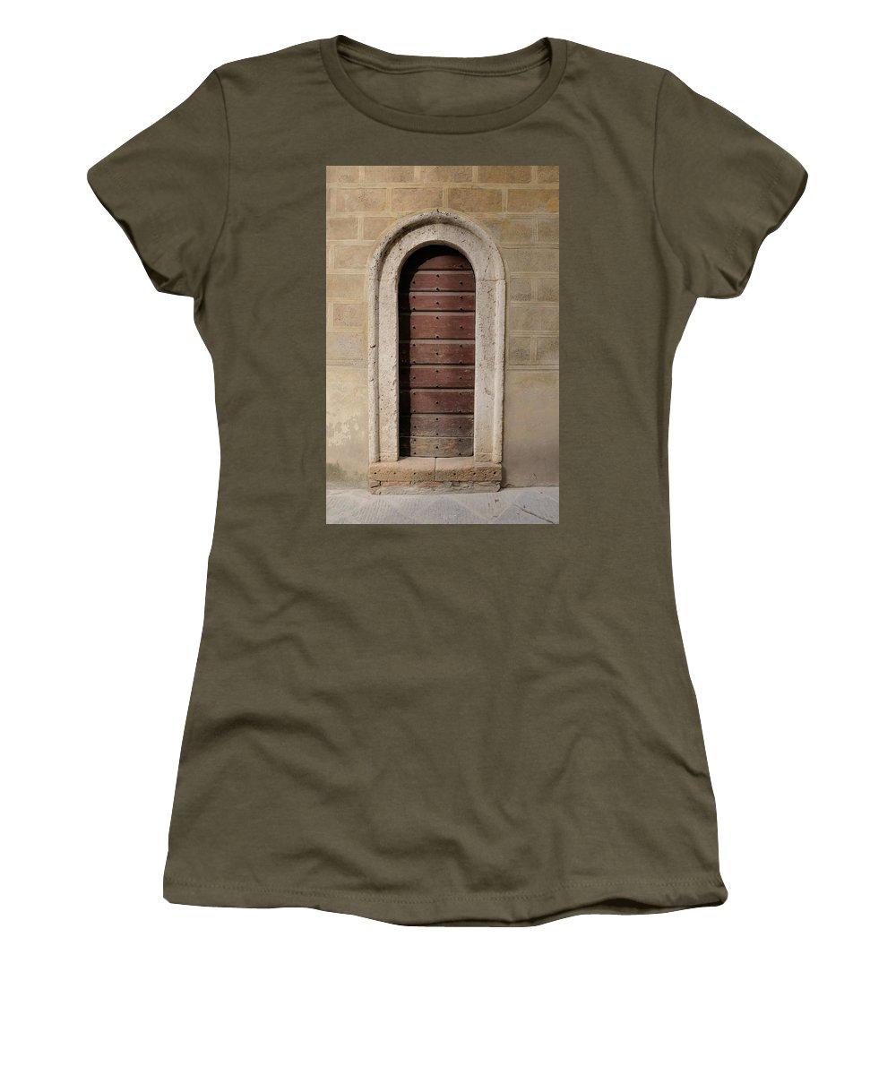 Europe Women's T-Shirt featuring the photograph Italy - Door Ten by Jim Benest