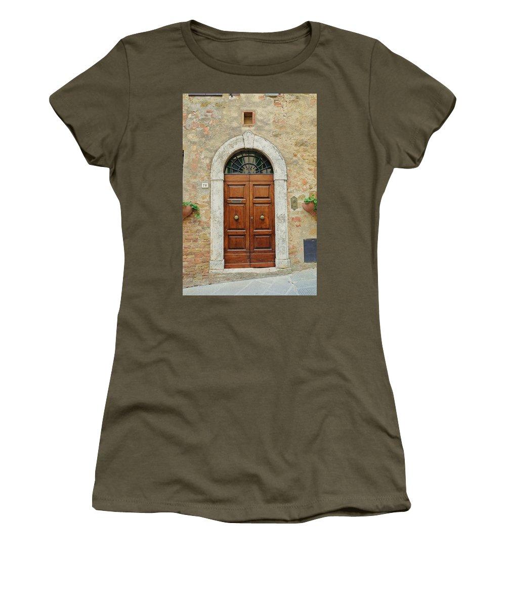 Europe Women's T-Shirt featuring the photograph Italy - Door Twelve by Jim Benest