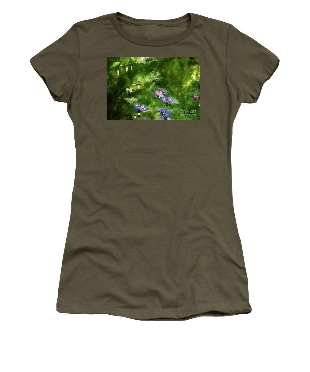 Digital Photo Women's T-Shirt (Athletic Fit) featuring the photograph It's A Still Life I Want To Color by David Lane