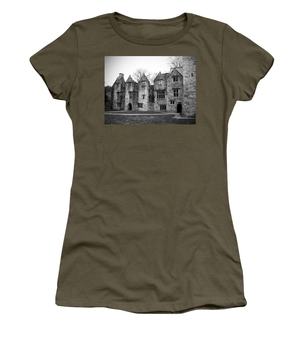 Irish Women's T-Shirt (Athletic Fit) featuring the photograph Jacobean Wing At Donegal Castle Ireland by Teresa Mucha