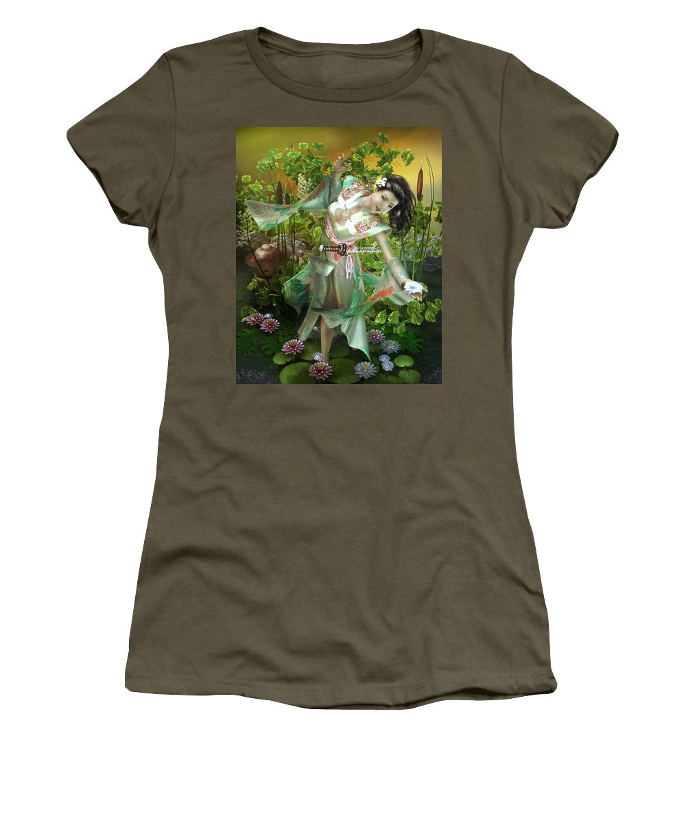 Lilly Pad Digital Art Women's T-Shirts