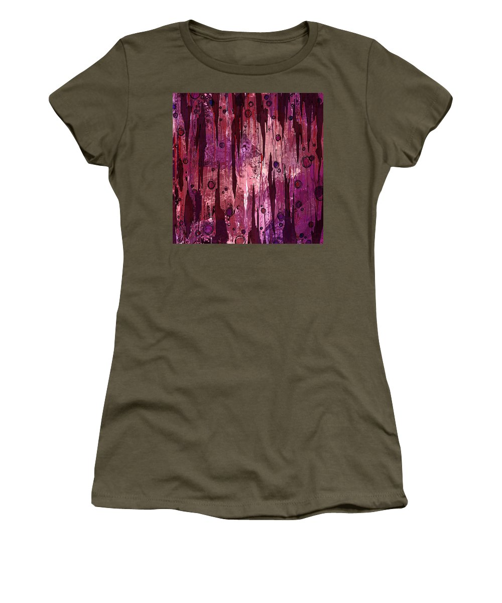 Abstract Women's T-Shirt (Athletic Fit) featuring the digital art Jagged Edges by Rachel Christine Nowicki
