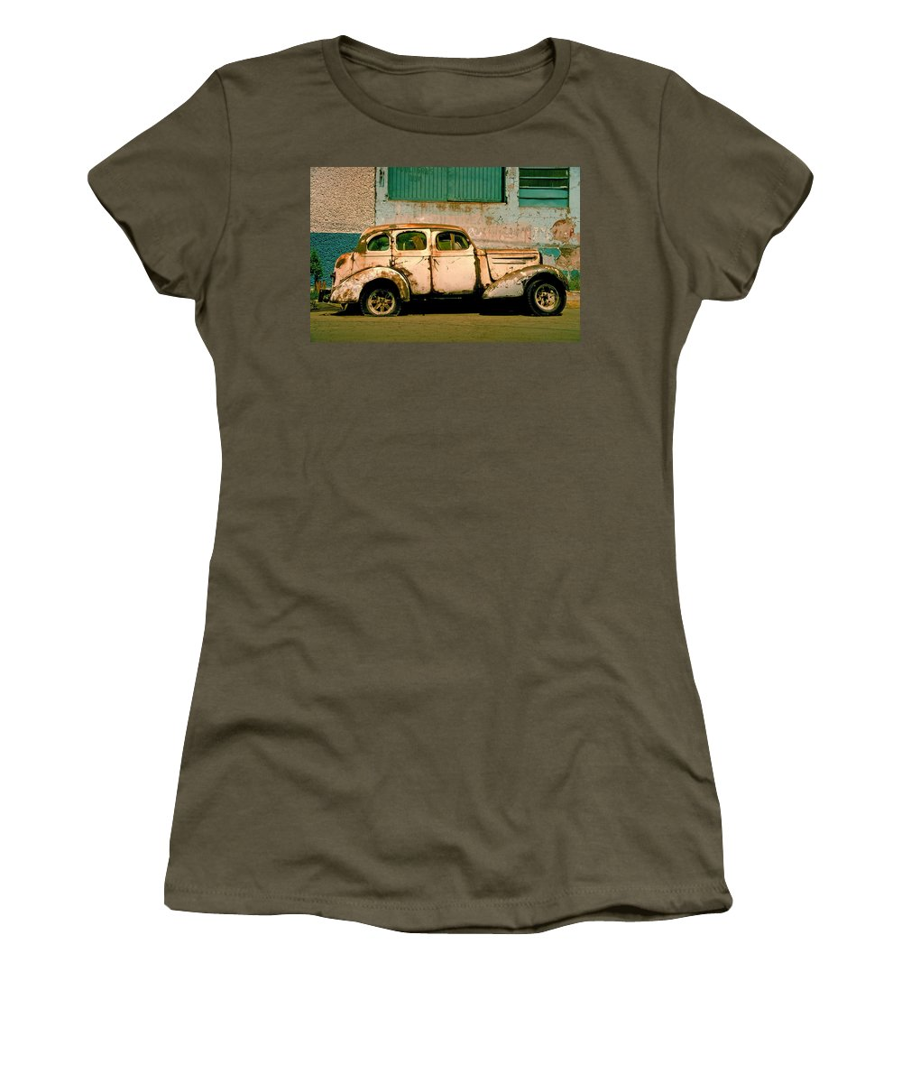Skip Women's T-Shirt (Athletic Fit) featuring the photograph Jalopy by Skip Hunt