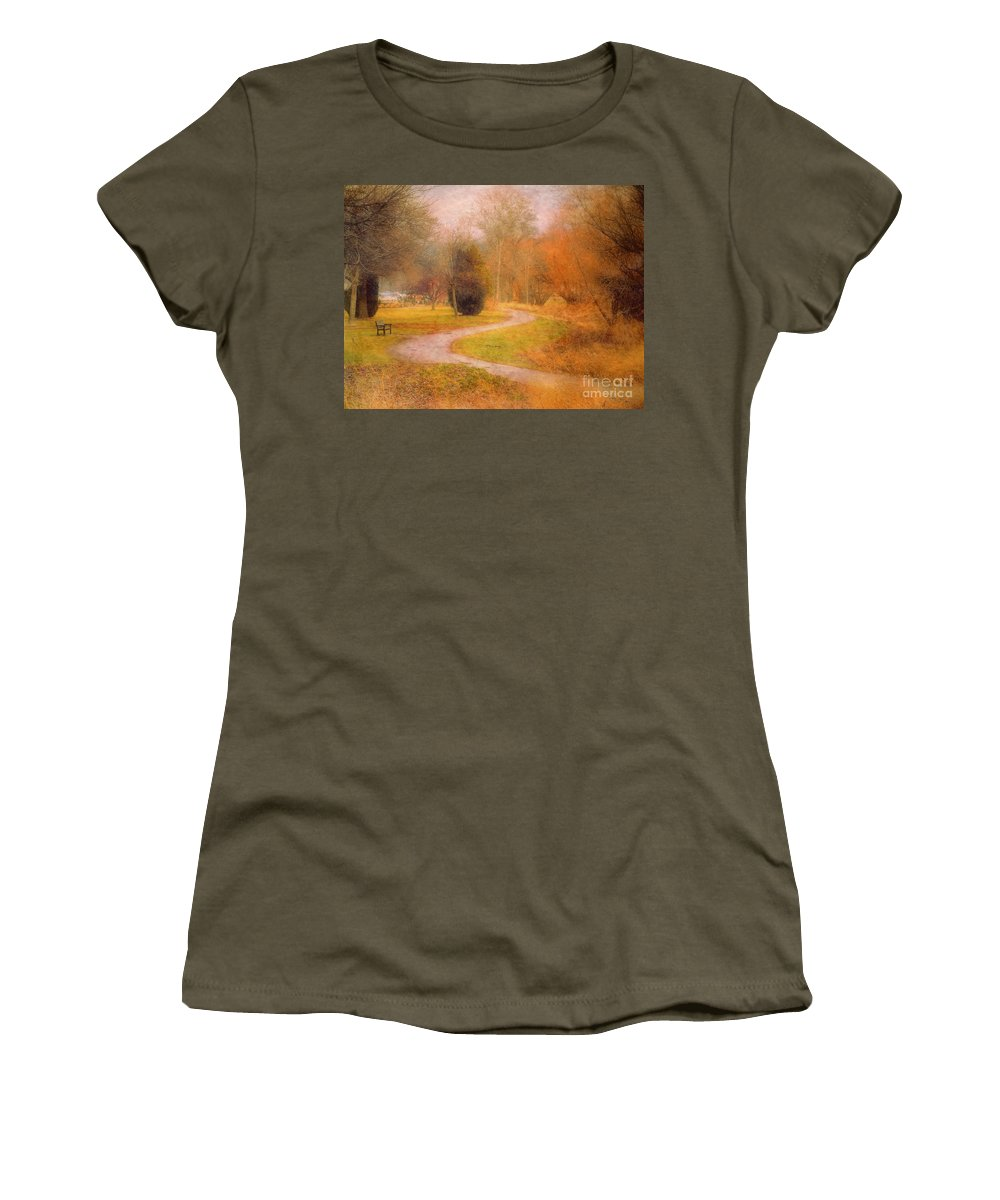 Road Women's T-Shirt (Athletic Fit) featuring the photograph January 14 2010 by Tara Turner