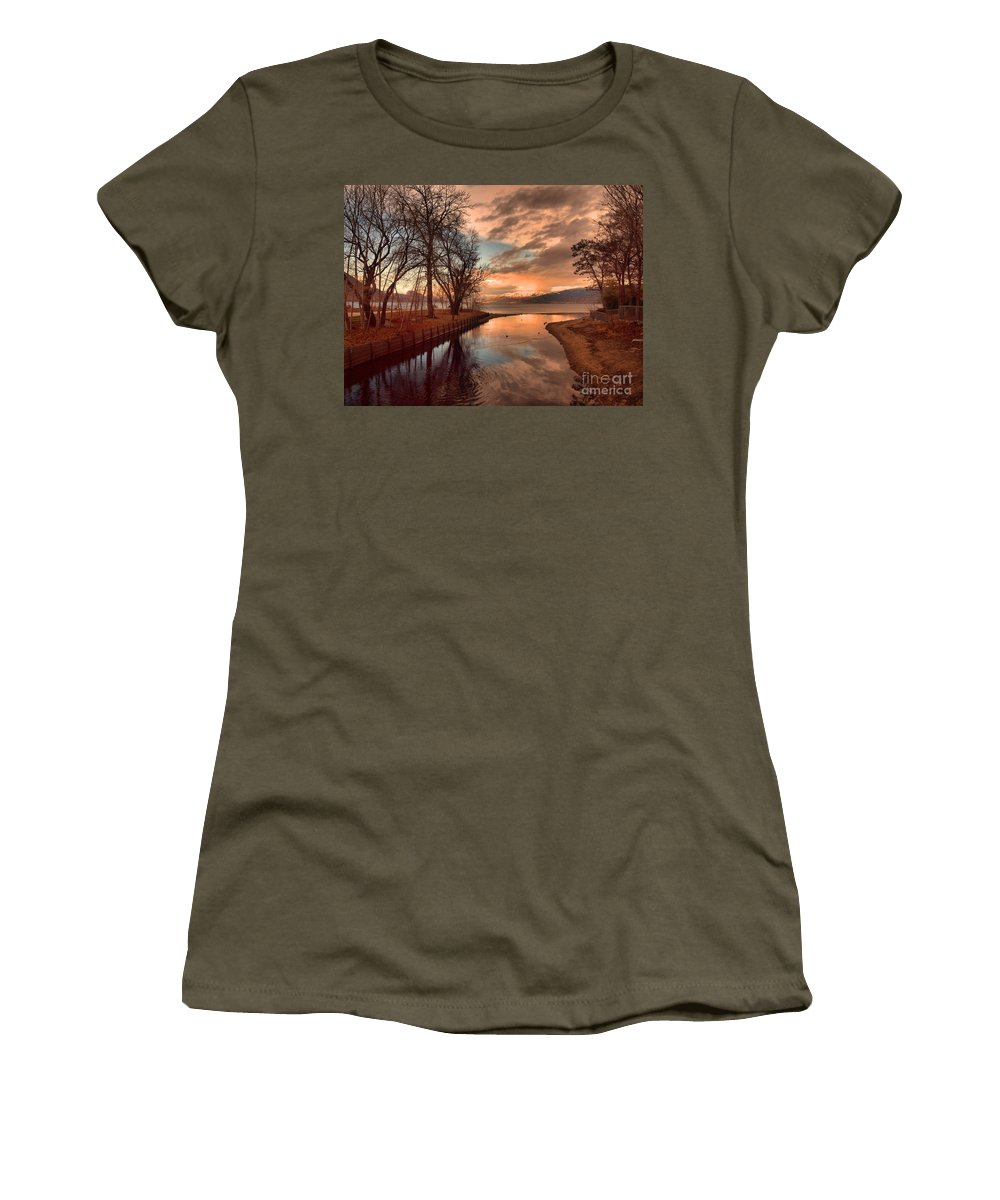 Sunset Women's T-Shirt featuring the photograph January 15 2010 by Tara Turner