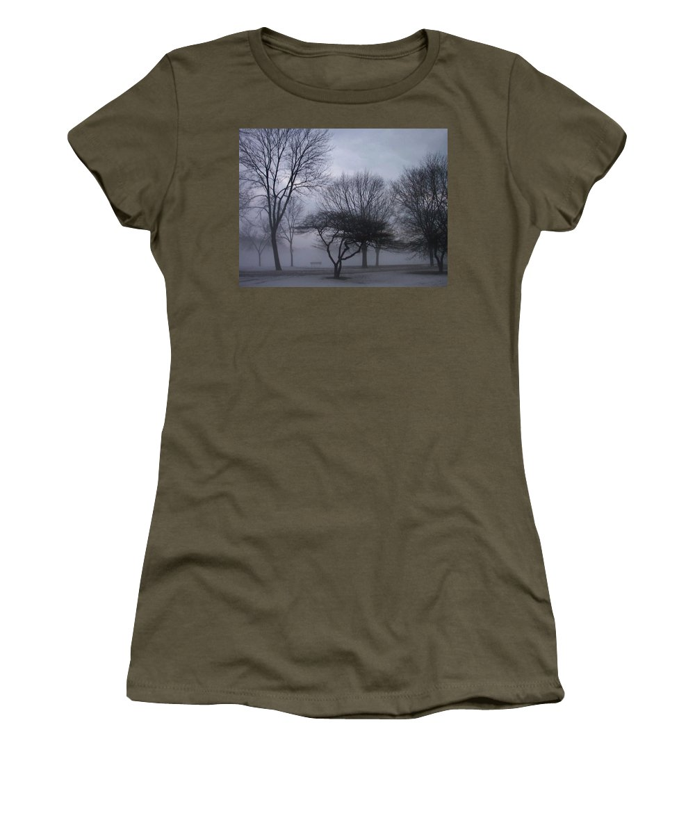 January Women's T-Shirt (Athletic Fit) featuring the photograph January Fog 6 by Anita Burgermeister