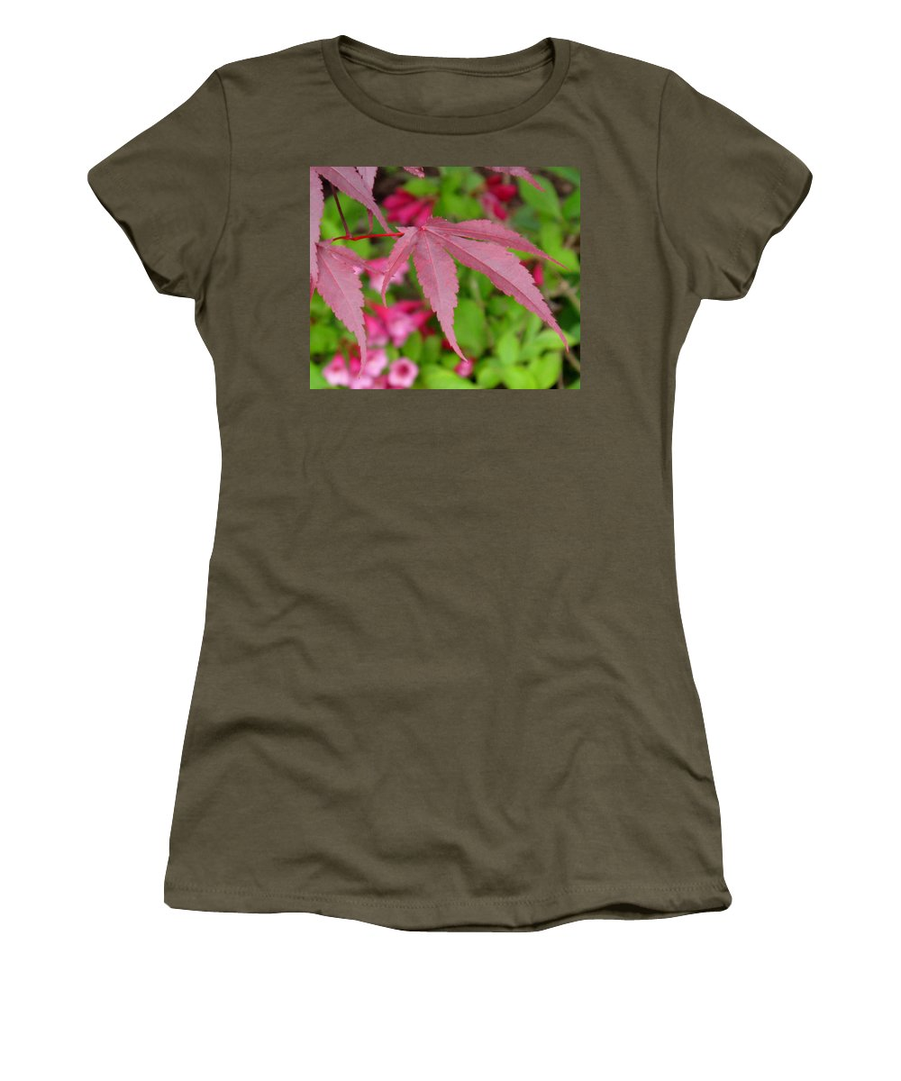 Japanese Maple Women's T-Shirt (Athletic Fit) featuring the photograph Japanese Maple by Ian MacDonald
