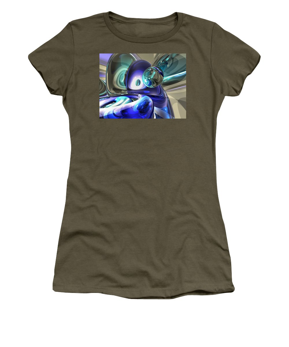 3d Women's T-Shirt featuring the digital art Jewel Of The Nile Abstract by Alexander Butler