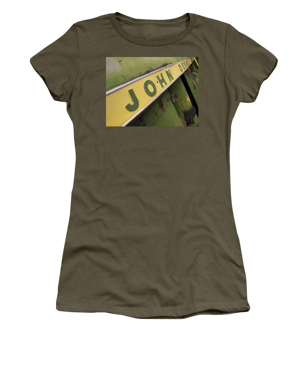 John Deere Women's T-Shirt (Athletic Fit) featuring the photograph John Deere by Jeffery Ball