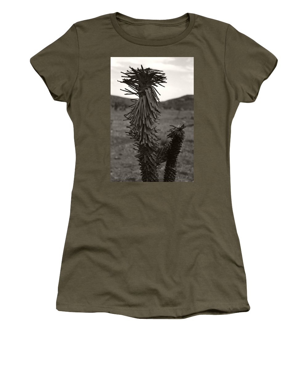 Women's T-Shirt featuring the photograph Joshua Top Over Hills by Heather Kirk