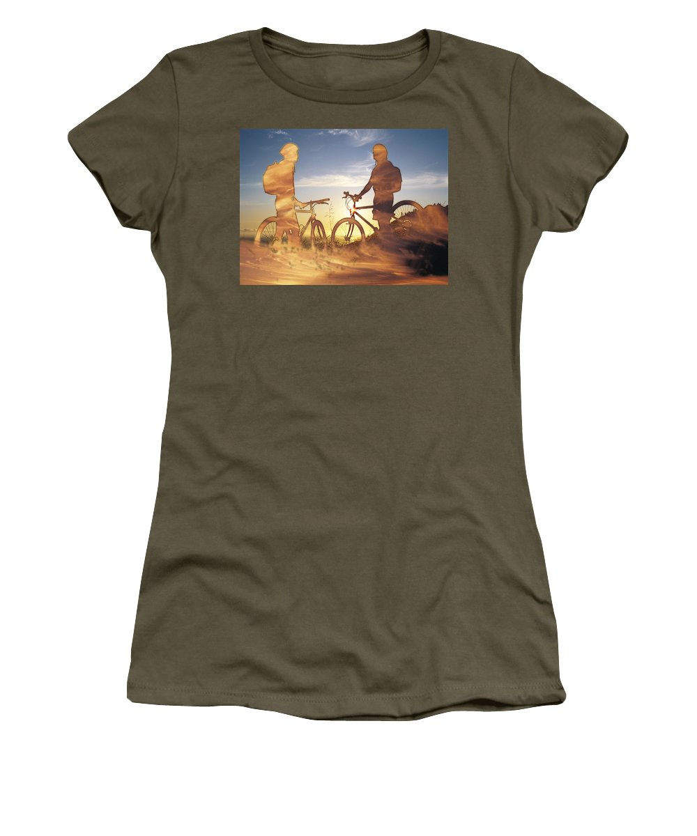 Clouds Women's T-Shirt featuring the photograph Journeys End by Tim Allen
