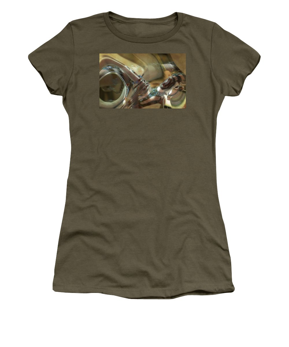 Abstract Women's T-Shirt featuring the painting Judgment by RC DeWinter