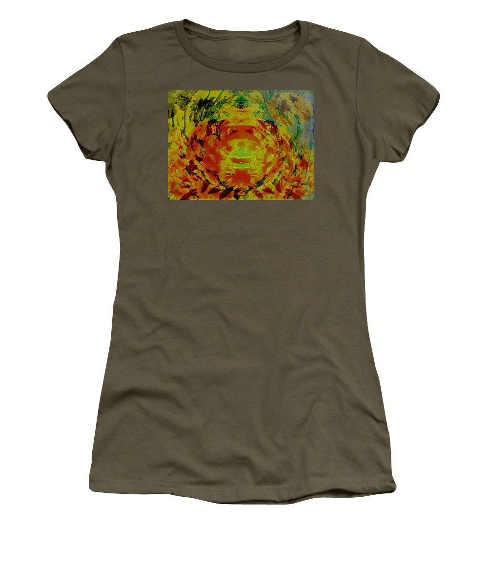 Flowers Women's T-Shirt (Athletic Fit) featuring the digital art Just Flowers by Helmut Rottler