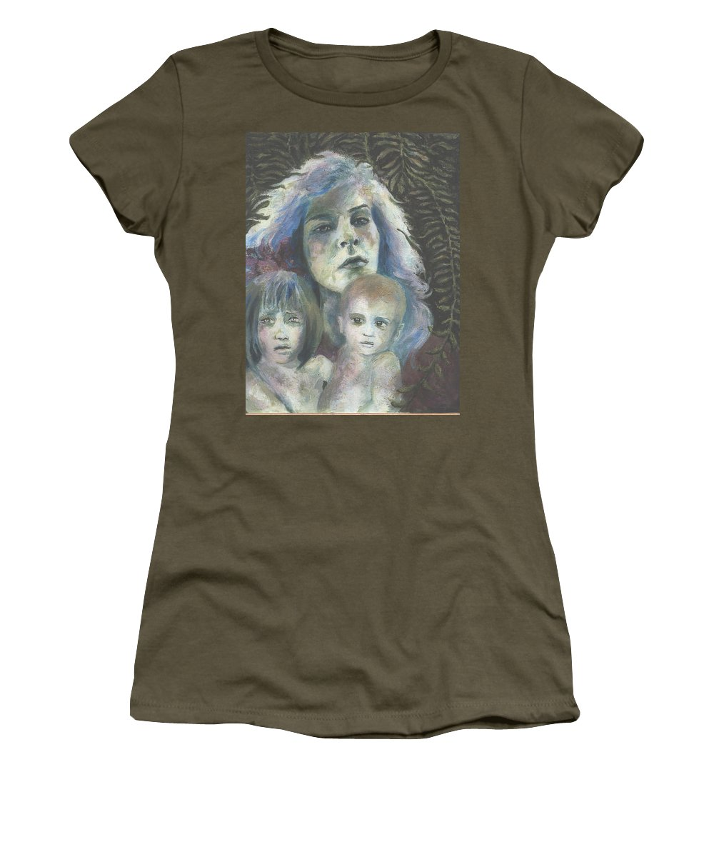 Woman Women's T-Shirt featuring the painting Katrina by Connie Freid