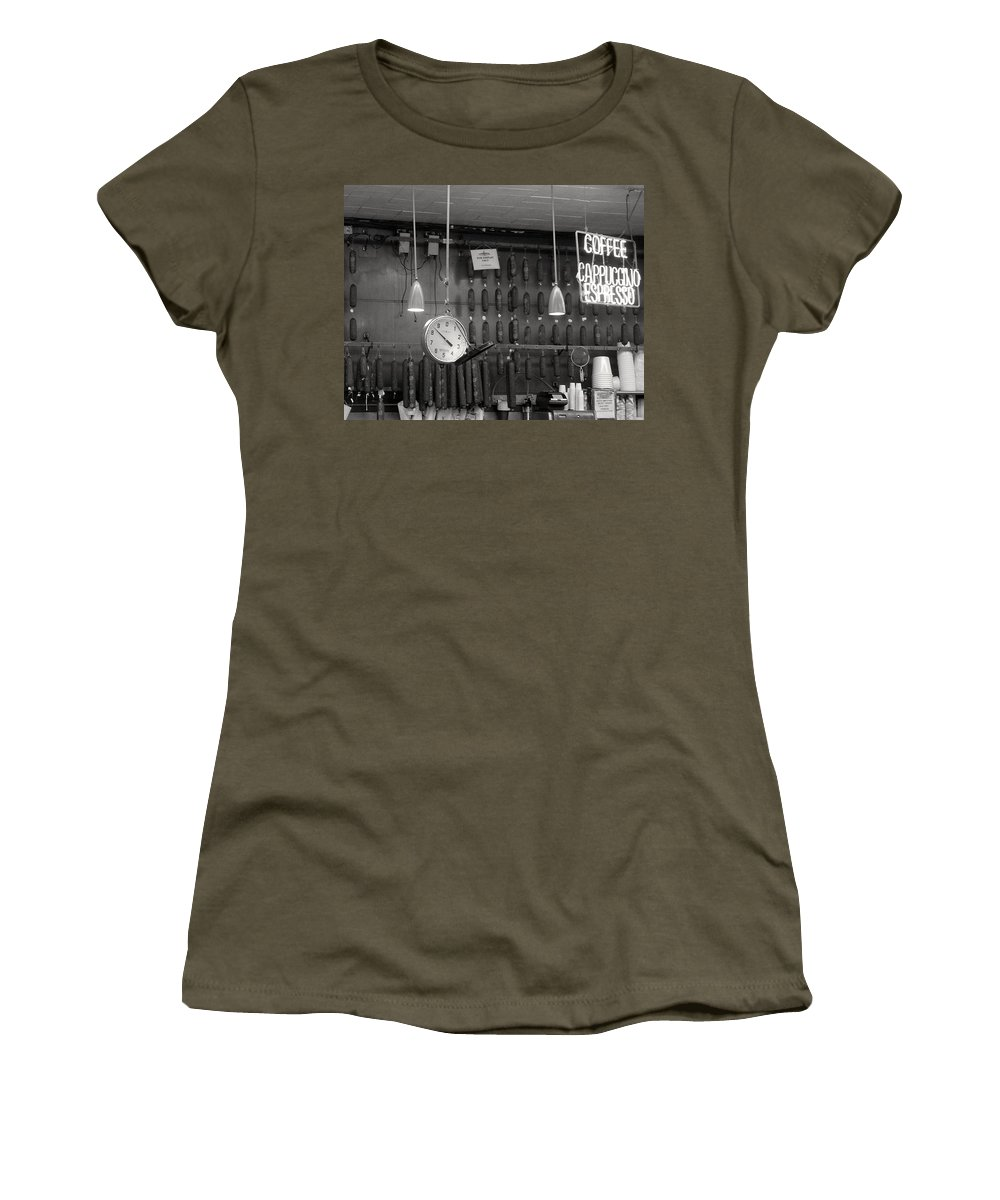 Deli Women's T-Shirt (Athletic Fit) featuring the photograph Katz Deli by Debbi Granruth
