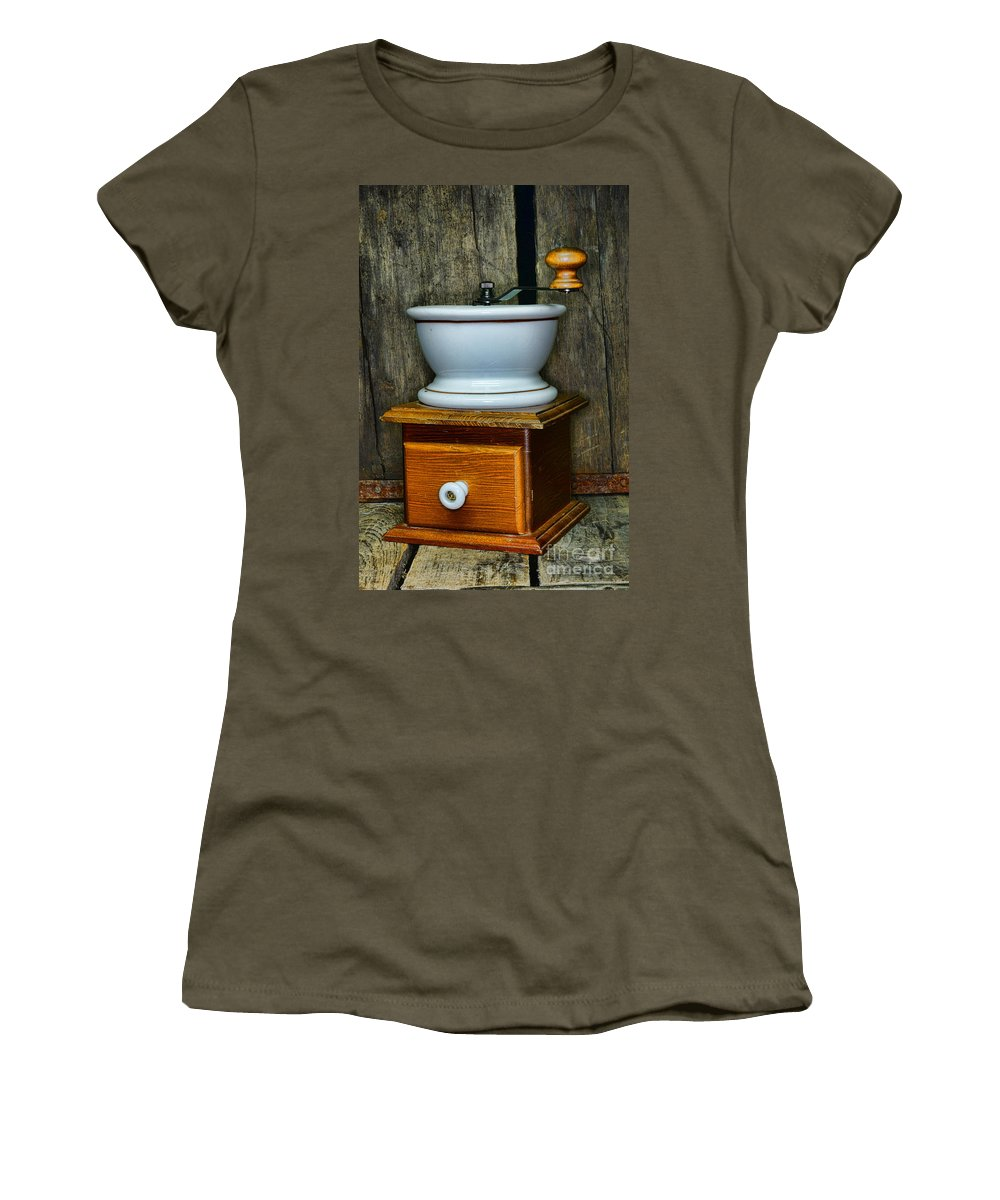 Paul Ward Women's T-Shirt (Athletic Fit) featuring the photograph Kitchen - Retro Coffee Maker by Paul Ward