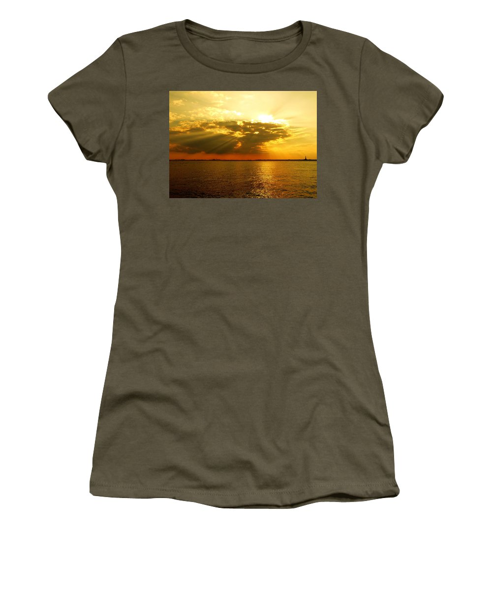 Gold Women's T-Shirt featuring the photograph Knocking On Heaven's Door by Kendall Eutemey