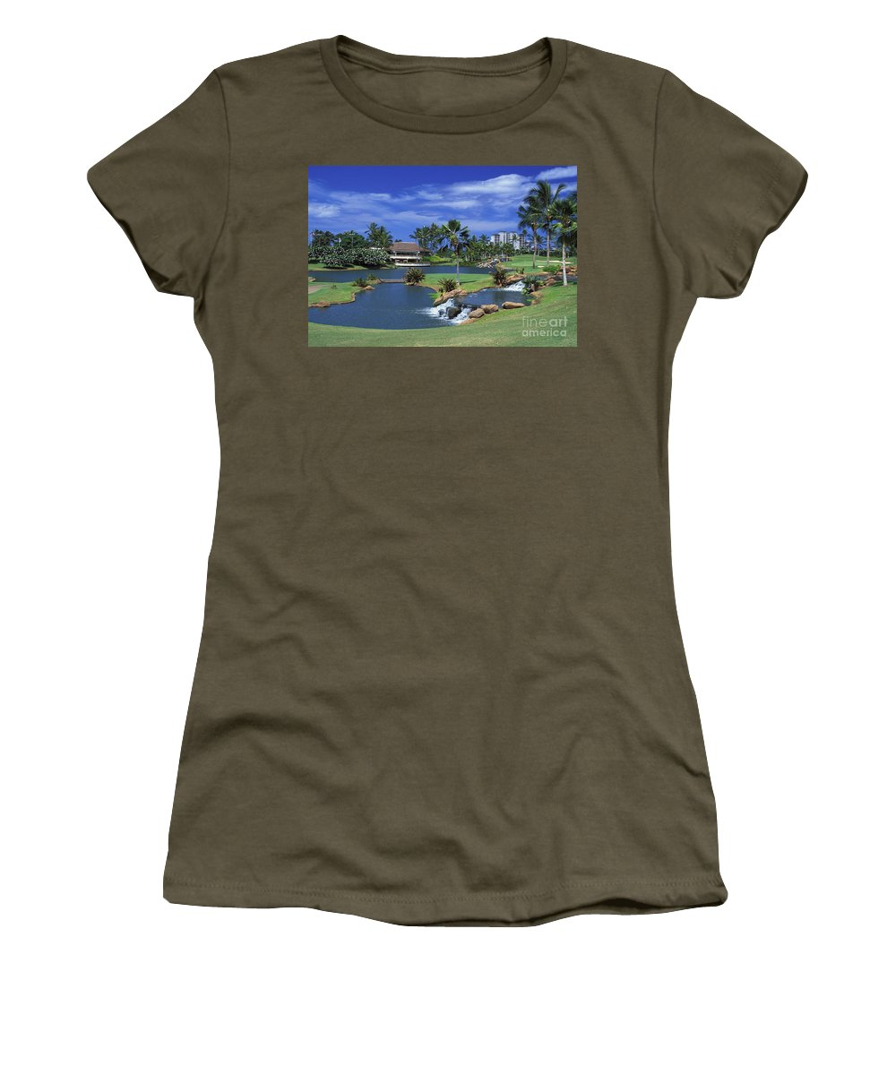 18th Women's T-Shirt featuring the photograph Koolinas 18th Hole by Peter French - Printscapes