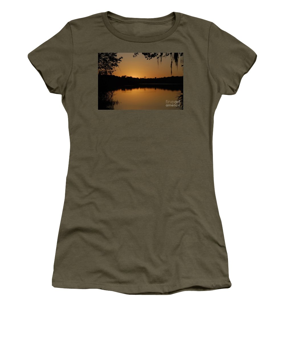 Lake Women's T-Shirt (Athletic Fit) featuring the photograph Lake Reflections by David Lee Thompson