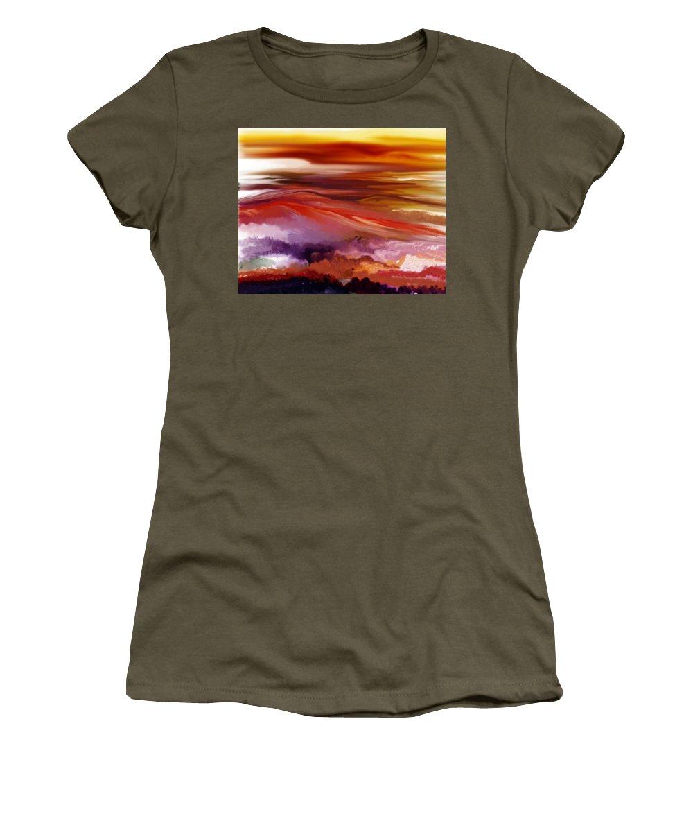 Landscape Women's T-Shirt featuring the digital art Landscape 022511 by David Lane