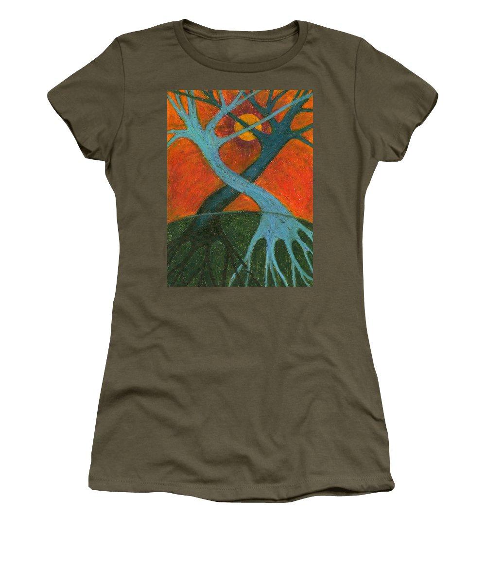 Colour Women's T-Shirt (Athletic Fit) featuring the painting Lapse by Wojtek Kowalski