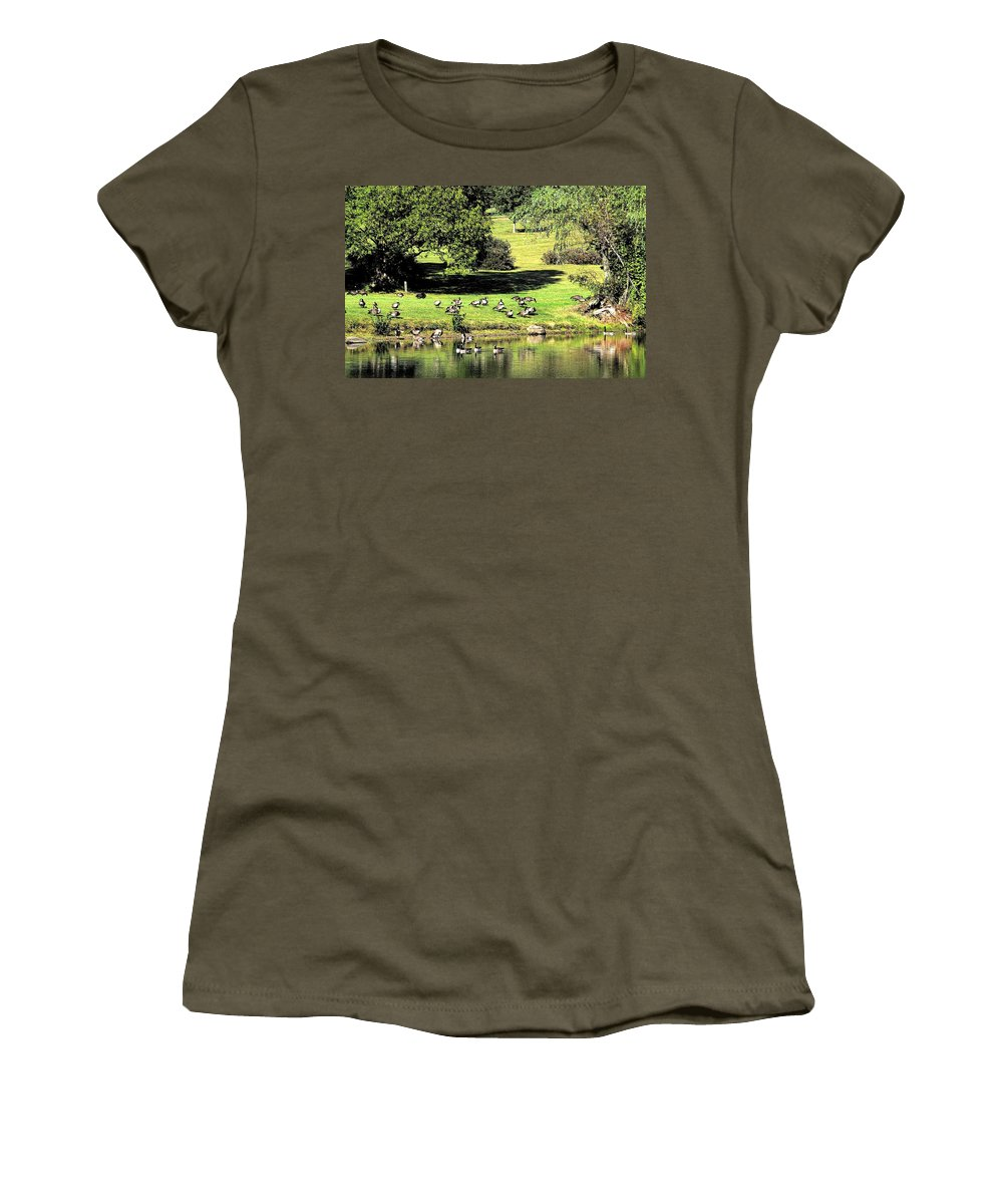 Bird Women's T-Shirt (Athletic Fit) featuring the photograph Last Days Of Summer by Gaby Swanson