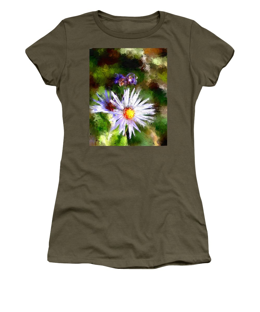 Flower Women's T-Shirt (Athletic Fit) featuring the photograph Last Rose Of Summer by David Lane