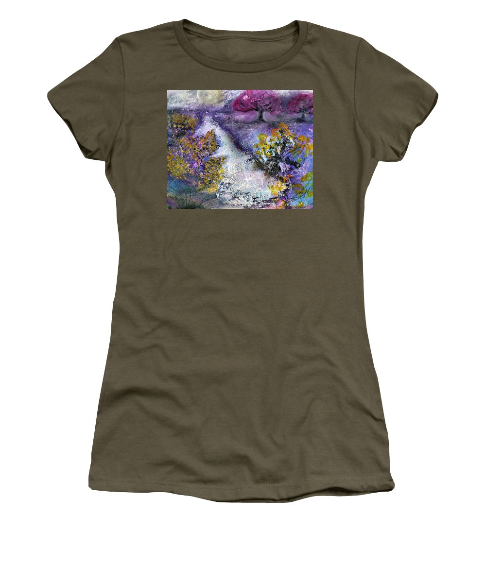 Late Season Frost Women's T-Shirt featuring the mixed media Late Season Frost by Joely Rogers