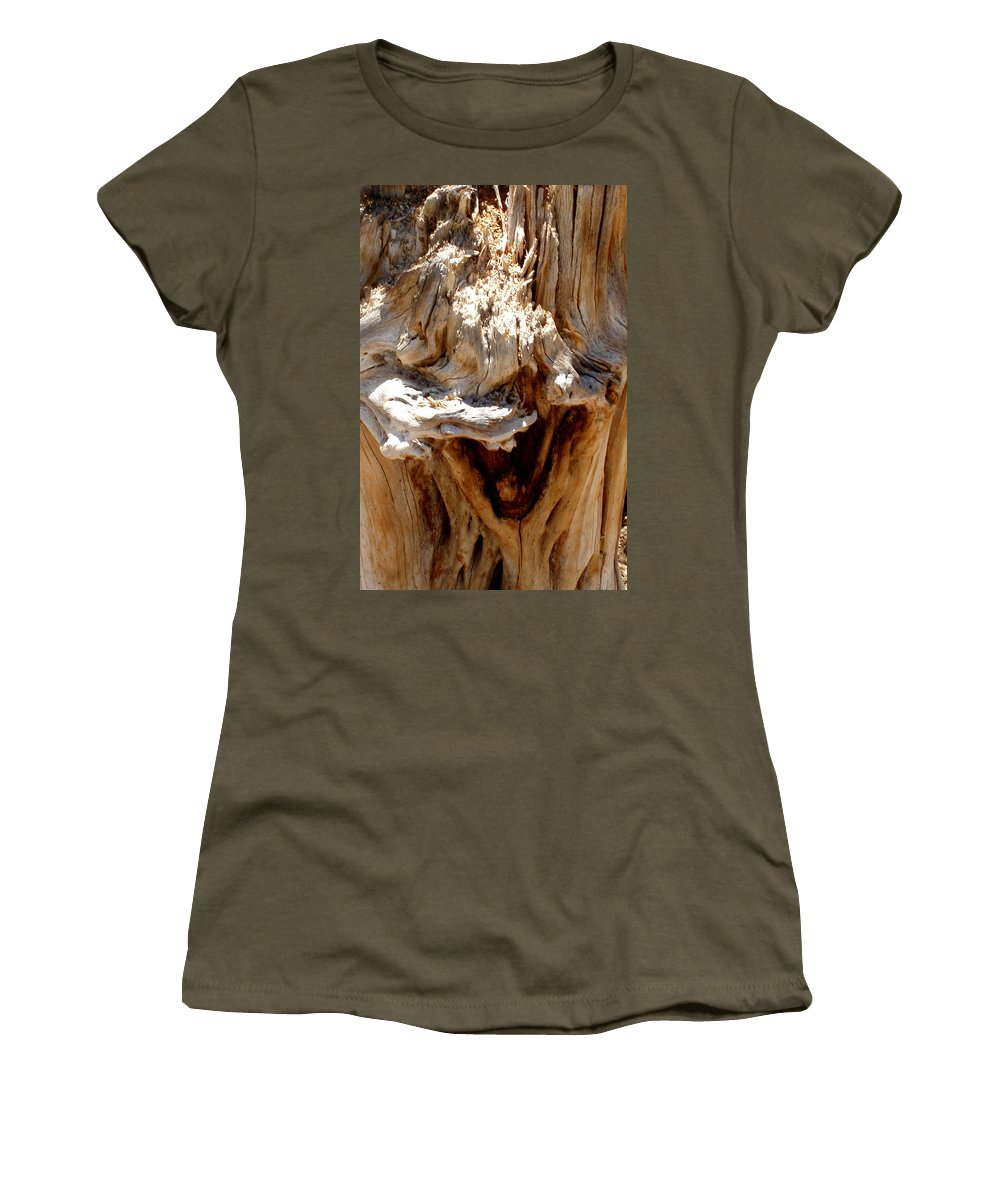 Tree Women's T-Shirt (Athletic Fit) featuring the photograph Laughing Tree by Wayne Potrafka