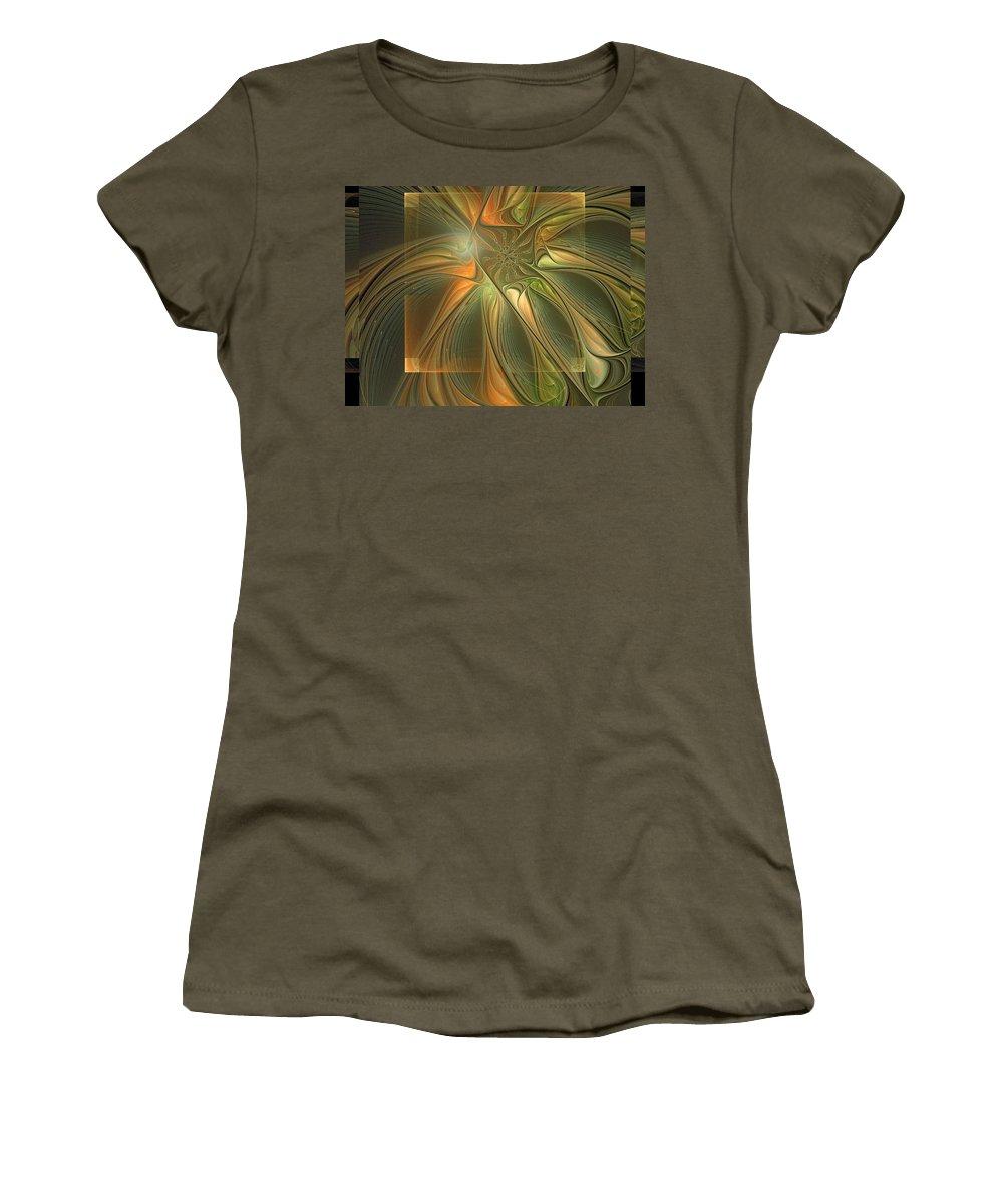 Digital Art Women's T-Shirt (Athletic Fit) featuring the digital art Layers by Amanda Moore