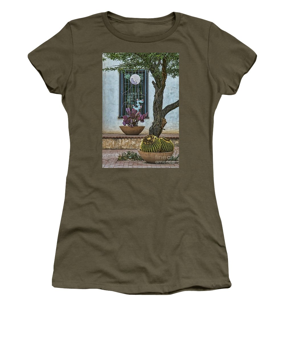 Layers Of Cactus Women's T-Shirt featuring the photograph Layers Of Cactus by Priscilla Burgers