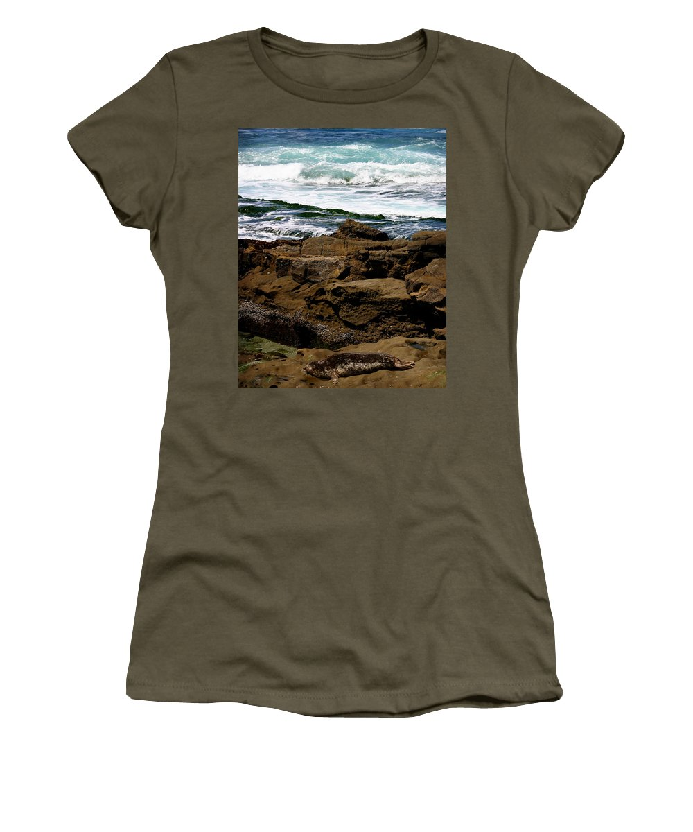 Beach Women's T-Shirt (Athletic Fit) featuring the photograph Lazy Days by Anthony Jones
