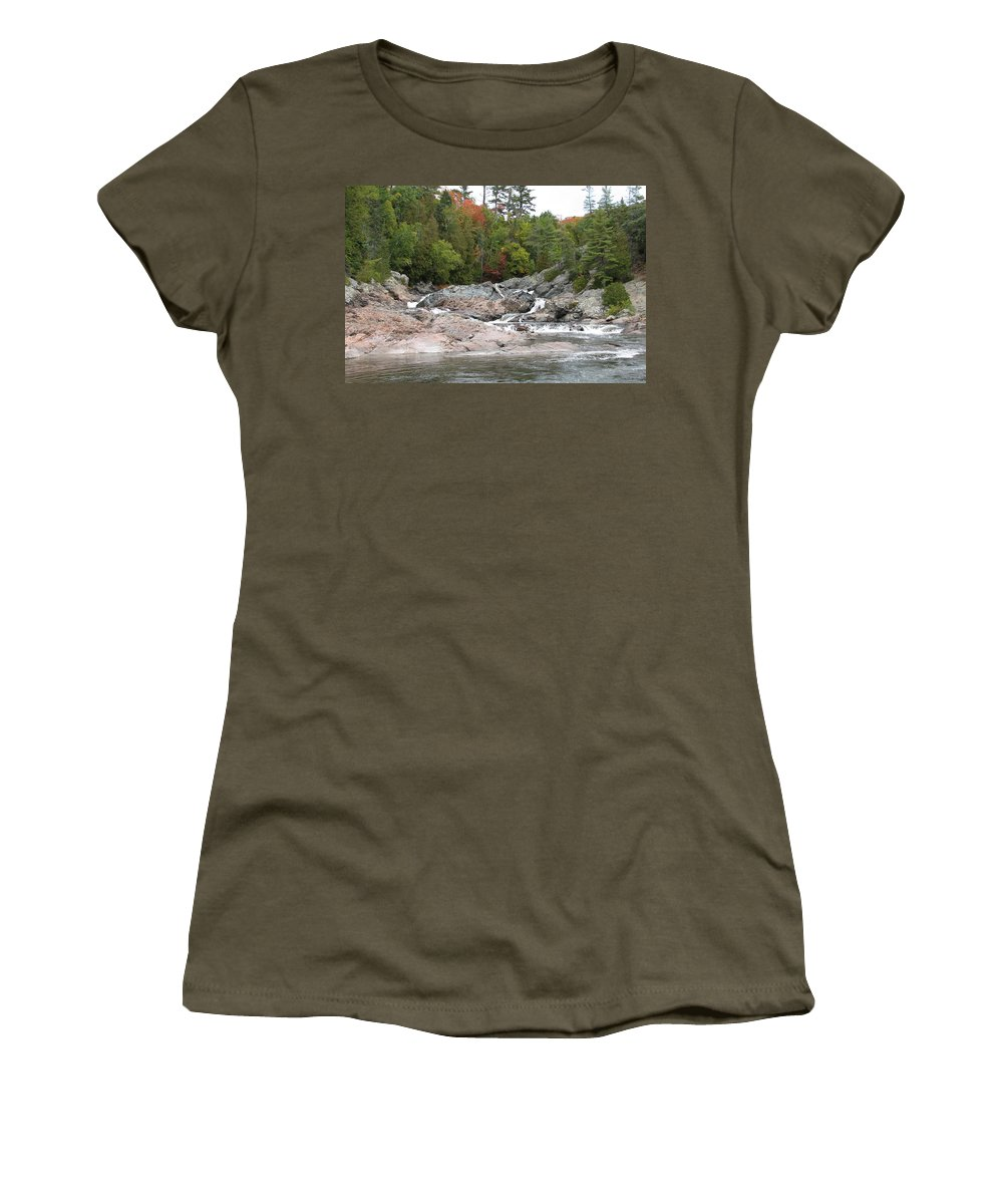 River Women's T-Shirt (Athletic Fit) featuring the photograph Lazy River by Kelly Mezzapelle