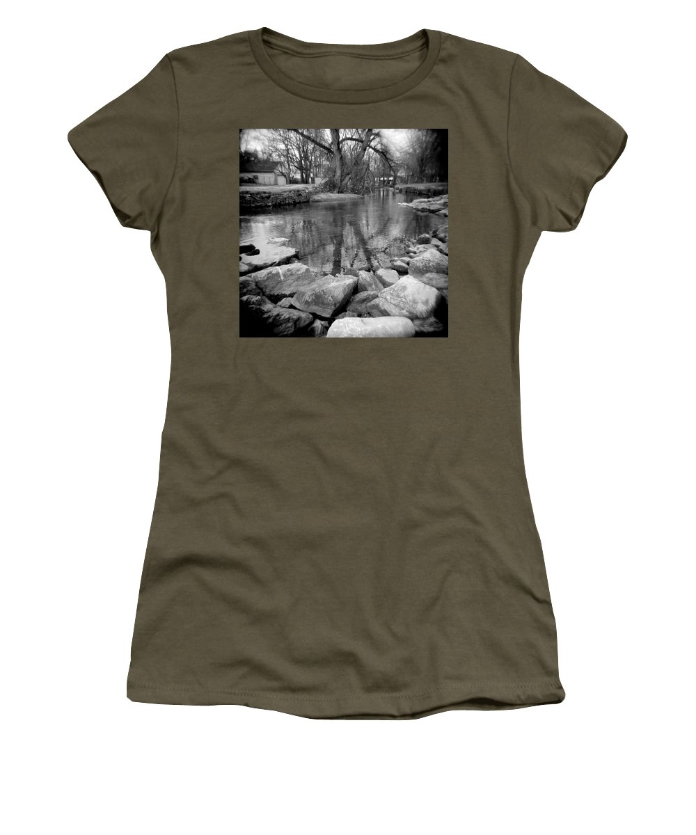 Photograph Women's T-Shirt (Athletic Fit) featuring the photograph Le Tort Reflection by Jean Macaluso